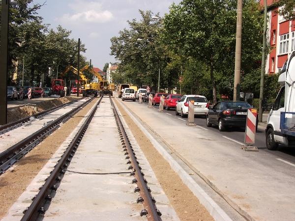 Bau Berliner Rasengleis